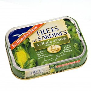 Sardine fillets in olive oil
