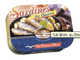sardines with butter
