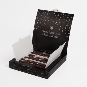 LAKRITSFABRIKEN FROSTED CHOCOLATE GLAZED LIQUORICE STICKS